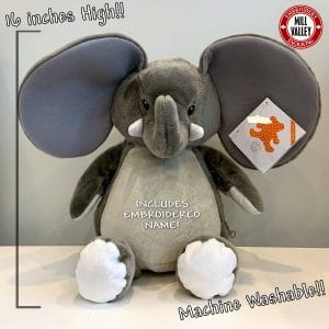 Adorable Giant Stuffed Elephant with included embroidery!