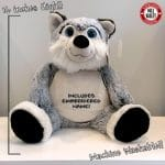 Adorable Giant Stuffed Husky with included embroidery!