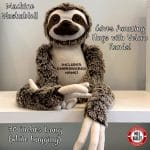Adorable Giant Stuffed Sloth with included embroidery!