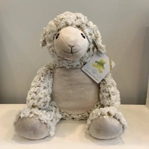 Adorable Giant Stuffed lamb with included embroidery!